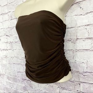 🆕Marciano Ruched Strapless Top